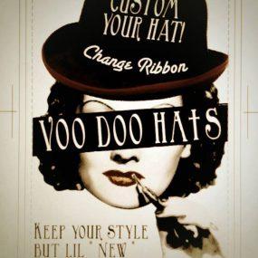 """死にかけのHATを蘇らせる、""""Voodoo Hats"""" リボンの交換やサイズ調整等、帽子への愛着がグッと深まります。 フリーマーケットやセカンドハンドショップで見つけた帽子が、「あとはリボンさえ違っていれば…」なんて場合にもオススメです。"""